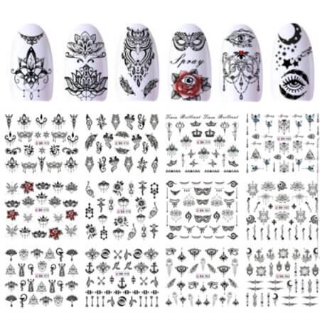nail-designs-art-water